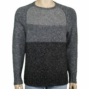 Club Room Mens Charcoal Heather Colorblock Sweater